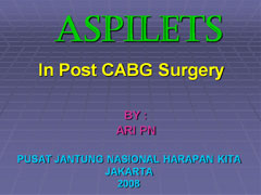 Aspilets Therapy After CABG Surgery